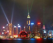 香港维多利亚港夜景照明工程