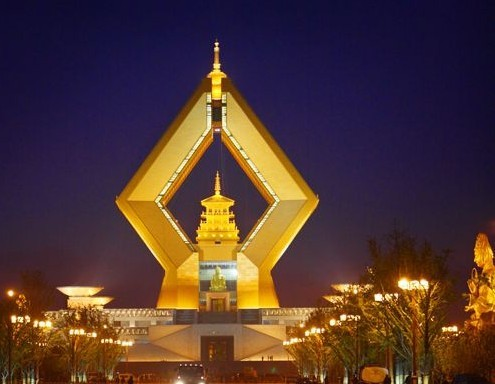 陕西法门寺合十舍利塔夜景照明工程