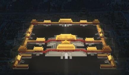 北京故宫三大殿夜景照明工程