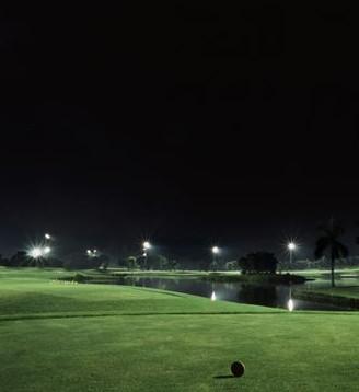 广州番禺莲花山高尔夫球场场地照明工程