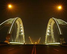 昆山市玉峰大桥夜景照明工程
