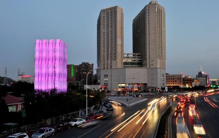 西六环阜石路立交桥、涌雕塑照明景观建设