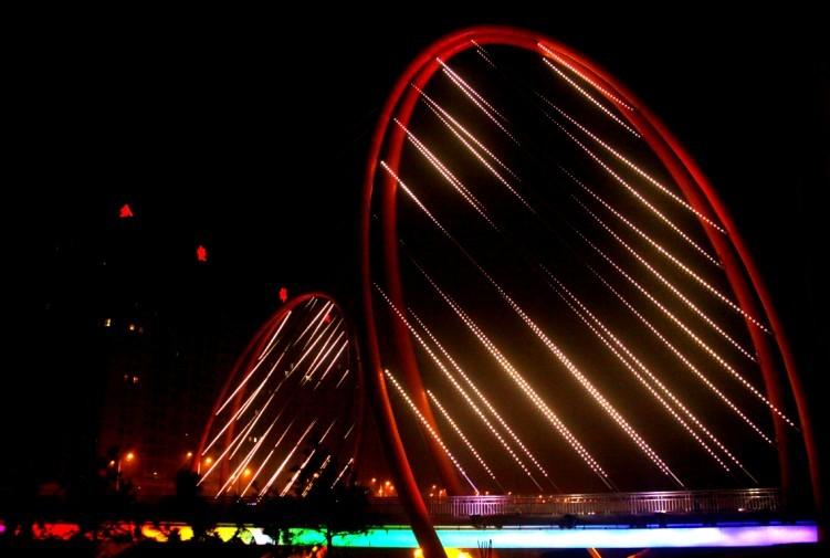 新乡市宏力大道卫河中桥景观照明工程