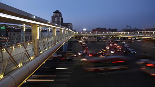 北京海淀区中关村一号天桥夜景照明设计