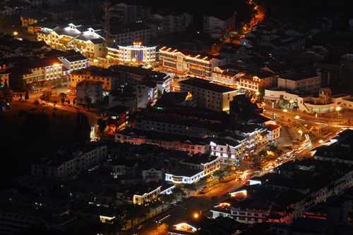 武夷山度假区主街(大王峰路)建筑立面整治夜景工程(第一标段