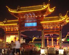 南京夫子庙-秦淮河风光带文德桥-文源桥段夜景照明工程