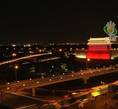 北京德胜门城楼及立交桥夜景照明工程