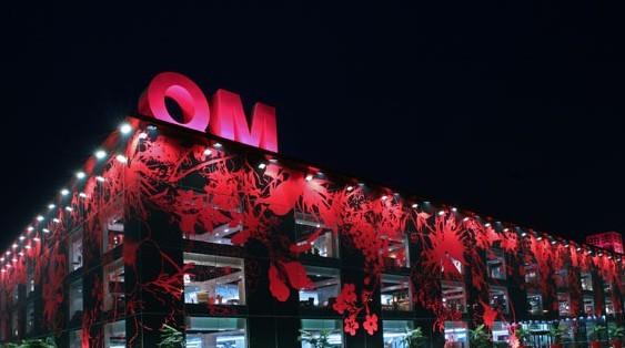 北京曲美家具北五环旗舰店夜景照明工程