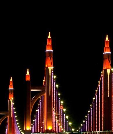 北京市昌平区南环大桥夜景照明工程