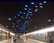 上海南站南北社会联系通道照明工程