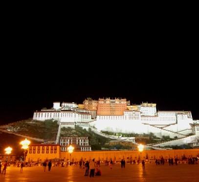 拉萨布达拉宫夜景照明工程