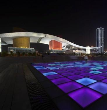 深圳市中心区中心广场及南中轴路夜景照明工程