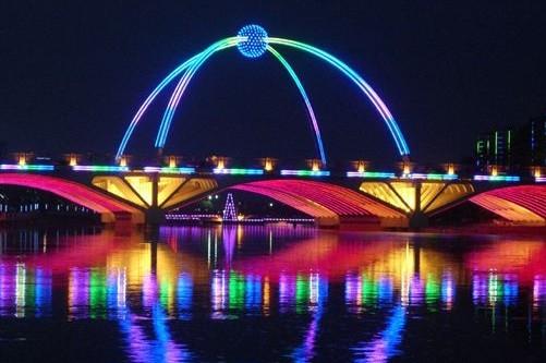 潍坊白浪河综合整治夜景照明工程