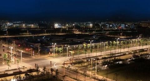 北川新县城cosmo暖白光道路照明工程