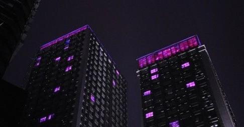 重庆江北区观音桥商圈夜景照明工程