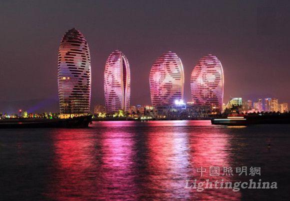 三亚凤凰岛夜景照明设计