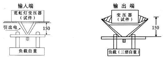 4.2.4绝缘性能 4.2.4.1常态绝缘性能 a.常态绝缘电阻 变压器输入线路的带电部件与输出圈及外壳之间绝缘电阻应不小于20M。 b.常态介电强度 变压器输入线路的带电部件与外壳之间应能承受2000V,整定电流为100mA,历时1min的耐压试验。而不发生击穿或闪烁现象。 c.感应介电强度 变压器输出端呈开路状态时,在输入端施加近似正弦波的频率为50Hz的330V历时1min的感应试验。 d.