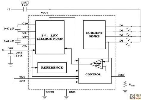 47μf电荷泵电容,优越的电路控制特性保证了低的电源冲击电流和emiat