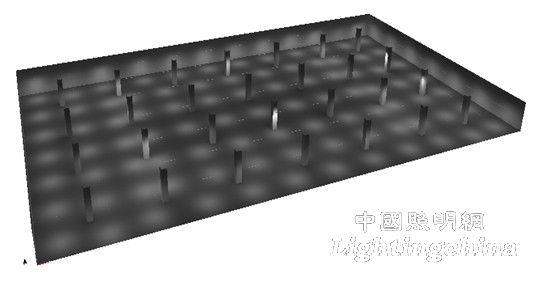 设计 地下车库/图1 57×33.3㎡中型地下车库的平面图