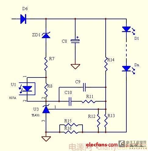 2,单个tl431恒流改进型电路