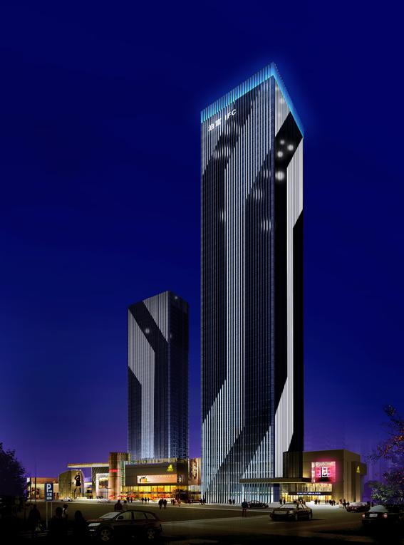 湖南第一高楼——长沙泊富国际广场