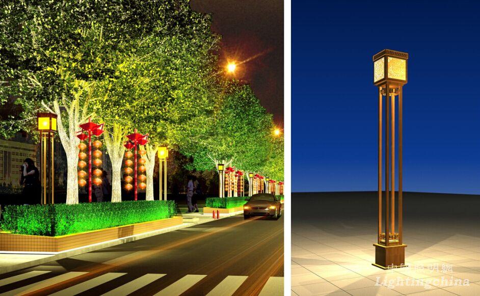 天心阁古玩城夜景照明设计 - 中国照明网案例