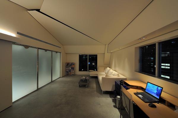 东京时尚阁楼公寓照明设计图片