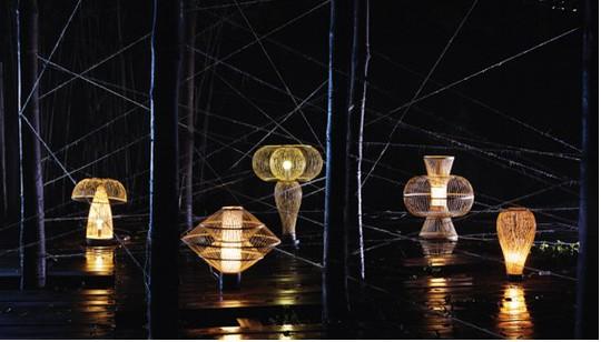 以柱子作为灯具创作的元素-创意视野 意想不到的古典优雅灯具造型