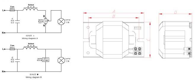 带电子镇流器应急照明接线图