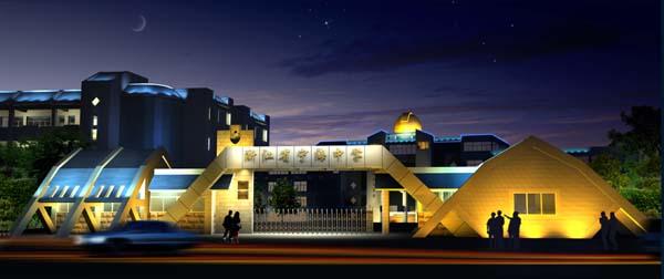 宁海中学夜景照明设计方案