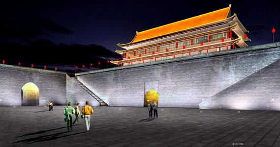 照明设计 城市夜景 西安城墙景区亮化照明方案